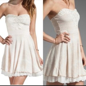 Free People Strapless Mini Dress